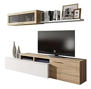 Habitdesign 016667F-Mueble de salón Comedor Moderno, Medidas ...