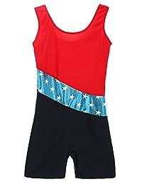 Arshiner Kids' Team Classic Basic Sleeveless Gymnastics Leotard 4-11Y