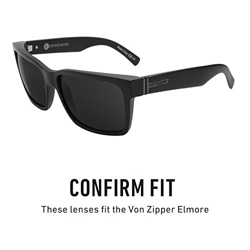 múltiples Polarizados Elmore Zipper repuesto Lentes de Opciones Chrome — Mirrorshield Revant Von Negro para AHzwxa