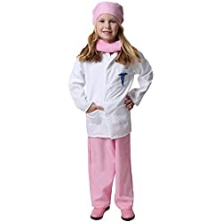 Girls Pink Doctor Deluxe Costume Set, Size 6/8