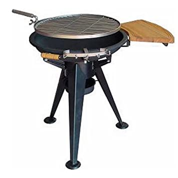 Barbecue in acciaio a legna o carbone e griglia da 60 cm: Amazon ...