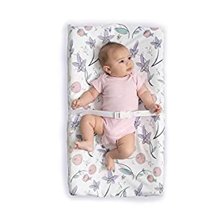 JumpOff Jo Waterproof Fitted Changing Pad Cover – Soft Plush Minky Fabric - Floral Fairy