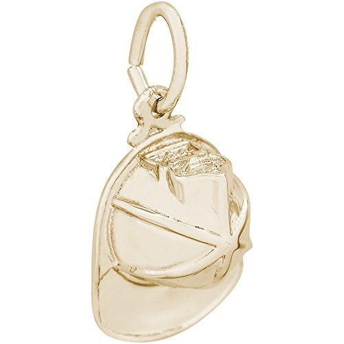 Rembrandt Charms 10K Yellow Gold Firemans Hat Charm (0.26 x 0.51 inches)
