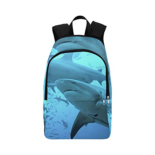 - APJDFNKL Great White Shark Swimming Casual Daypack Travel Bag College School Backpack for Mens and Women