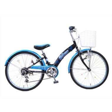 ブリアンナ (BRIANNA) シマノ6段変速 LEDブロックライト 子供用自転車 キッズサイクル 組み立て式 B017B6O3KSブルー 24インチ