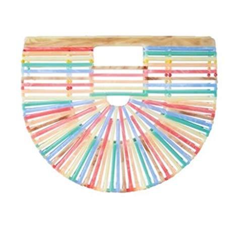 Mano Mano A Borse Da Spiaggia Borse Onesize A Acrilico Rainbow Borse GGCL In A Mano Borse Borse Tracolla A xSA0wRvSWq