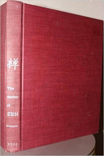 Libros para descargar en kindle The Matter of Zen: A Brief Account of Zazen DJVU