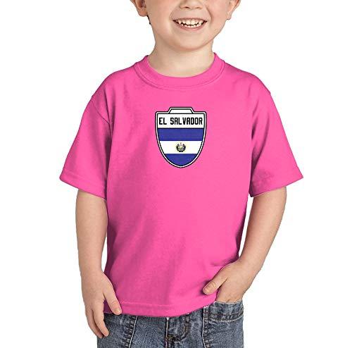HAASE UNLIMITED El Salvador Salvadorian - Soccer T-Shirt (Pink, 5T) ()