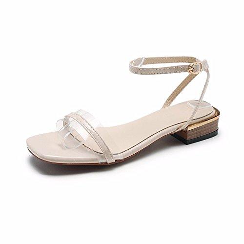 de Base Plana Verano Abiertas A de Zapatos los de la Deslizan Playa Elegante Aire señoras cómodo pies Plana de la Libre Correa y al de YMFIE Las Las Deslizamiento Simple Sandalias xPaq8zgz