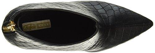 BUFFALO B334e-41a E0094a Croc Pu, Zapatillas de Estar por Casa para Mujer Negro - negro (negro 01)