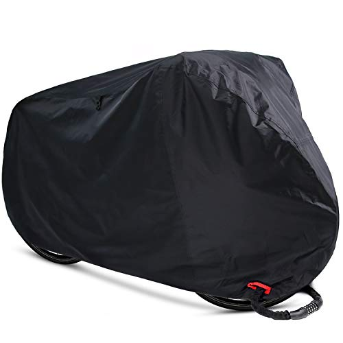 Ohuhu Bike Cover Waterproof Outdoor Bicycle Storage Covers All Weather Resistance, Ripstop Oxford Fabric for Mountain and Road Bikes Review