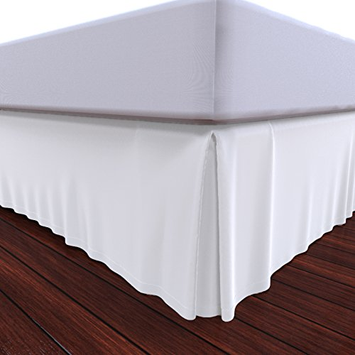 Why Choose Bed Skirt by Royal - 100% Natural Cotton - Luxurious 4 Side Pleated Skirt that is Durable...