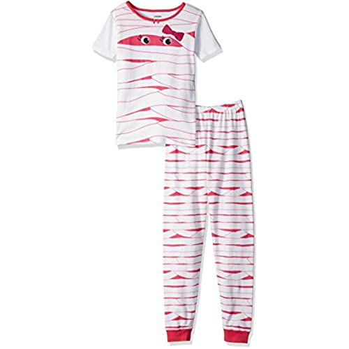 gymboree big girls short sleeve tight fit pajamas multi 8