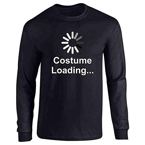 Pop Threads Costume Loading Funny Halloween Black L Long Sleeve T-Shirt