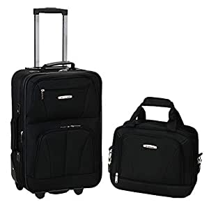 Rockland 2 Pc Luggage Set, Black (Black) - F145-ORANGE