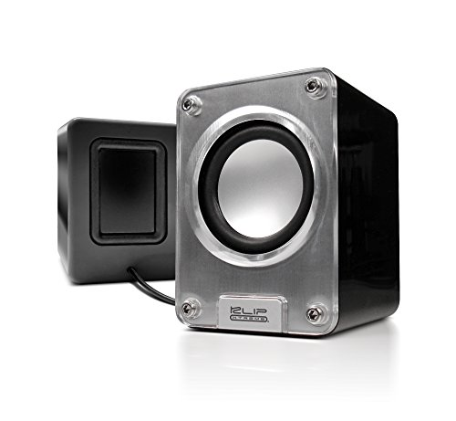 Klip Xtreme Mini II-2.0 Channel Stereo Speakers-Wired USB powered,3.5mm Connector-10Watt Peak Power-5W RMS-2.5'' Drivers with Heavy Bass design-Great for Computer,Laptop,Smartphone Tablet Stereo Sound by Klip xtreme