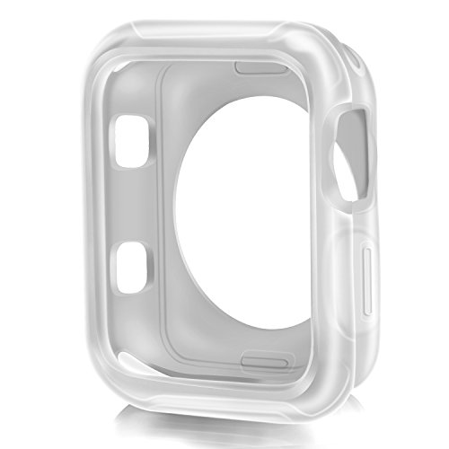 XinywTech Compatible Apple Watch Case 42mm?Shock-Proof and Shatter-Resistant Protector Bumper iwatch Case Compatible Apple Watch Series 3/2/1,Nike+,Sport,Edition (Clear, 42mm)