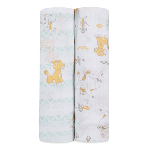 ideal baby by the makers of aden + anais Disney swaddle 2 pack, simba