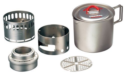 Evernew Titanium Mug Pot 500 Stove Set RED ECA268R
