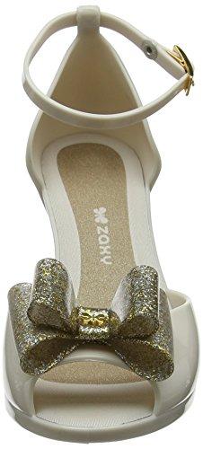 Riemchen Diva Gold 2 Pumps Glitter Bow Damen Zaxy Gold OzngP