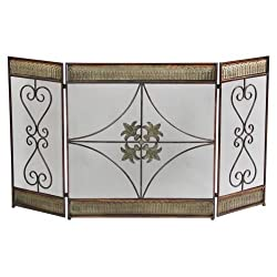 Aspire Home Accents 48126 Metal Fireplace Screen, from Aspire Home Accents