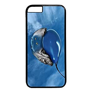 iCustomonline iPhone 6 Funny Hippo in Protective Plastic Hard Black Case for iPhone 6 (for 4.7 inch)