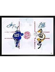 Sidney Crosby   John Tavares Dual Signed 20x29 Canvas Framed Penguins Leafs  Overhead-H 3ac845f36
