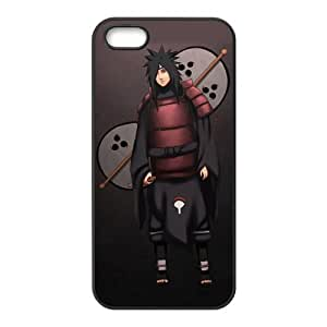 Naruto Uchiha Madara Cool with Fan Unique Apple Iphone 5 5S Durable Hard Plastic Case Cover CustomDIY