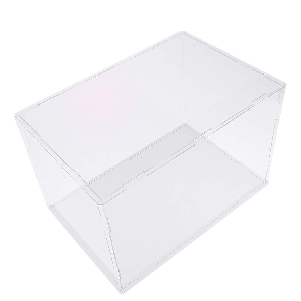 Hellery Caja De Protecci/ón Grande De Acr/ílico De Juguete Mostrar Vitrina A Prueba De Polvo 15x15x25cm 40x30x30cm