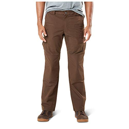 - 5.11 Men's Stryke Tactical Military Cargo Work Pant with Flex-Tac, Style 74369, Burnt, 42W x 36L