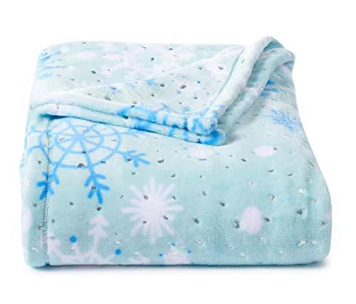 Throw Blanket Plush Super Soft and Cozy Large 60 x 72 (Snowflake - Snowflake Foil