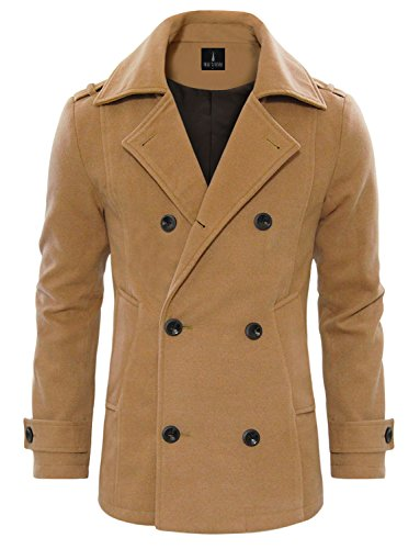 Toms-Ware-Mens-Stylish-Wool-Blend-Double-Breasted-Pea-Coat