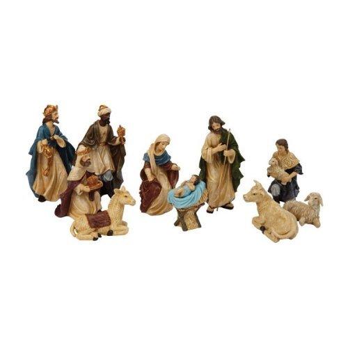 "Heartland (poly-resin) N0145 5"" Poly-resin Nativity Set 11 Piece"