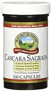 NATURE'S SUNSHINE Cascara Sagrada Capsules, 100 Count