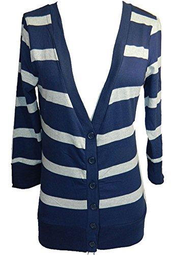 Zenana Women's 3/4 Sleeve 6 Button Cardigan