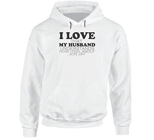 I Love My Husband Jon Jay St. Funny Baseball Hooded Pullover 2XL White