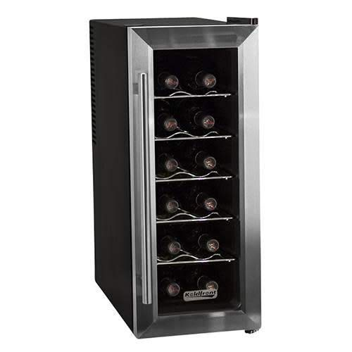 Koldfront TWR121SS 12 Bottle Stainless Steel Slim-Fit Freestanding Thermoelectric Wine Cooler