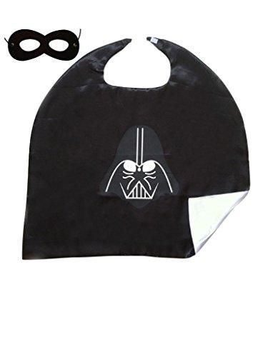 Superhero or Princess Kids CAPE & MASK SET Childrens Halloween Costume (Star Wars Black (Darth Vader Star (Darth Vader Child Costume)