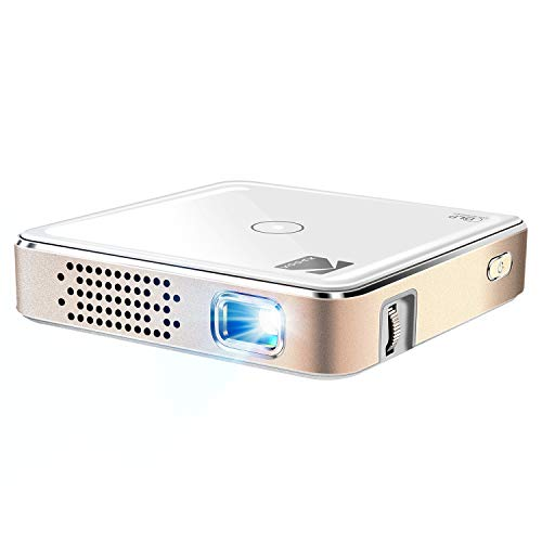 "Kodak Ultra Mini Portable Projector - 1080p HD LED DLP Rechargeable Pico Projector - 100"" Display, Built-in Speaker - HDMI, USB and Micro SD - Compatible with iPhone iPad, Android Phones & Devices"