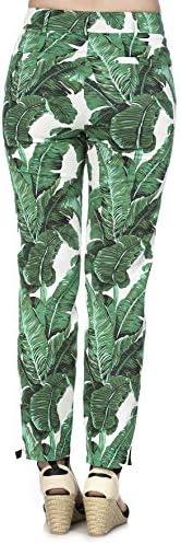 Banned Retro Pantalon Tropical Leaves Femme Chino Vert/Blanc XL