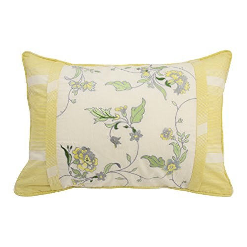 Waverly 15549014X020SPR Paisley Verveine 14-Inch by 20-Inch Embroidered Decorative Pillow, Spring