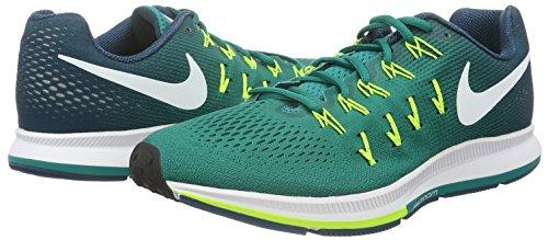 Nike Air Zoom Pegasus 33, Zapatillas de Running Para Hombre Verde (Rio Teal/White-Midnight Turq-Volt)