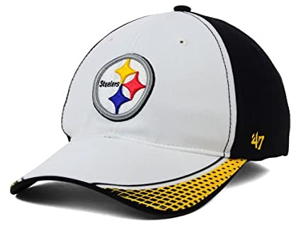 Image Unavailable. Image not available for. Color  Pittsburgh Steelers  Slouch Style Flex Fit BattleHawk Hat Size ... 1549b7f78