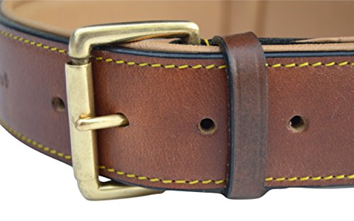 Soft Touch Collars Real Leather Padded Dog Collar, XL Brown, 28'' Inches Long x 1.75'' Inches Wide, Fits Neck Size 22'' to 25'', Full Grain Genuine Luxury Leather for XLarge Dogs by Soft Touch Collars (Image #2)