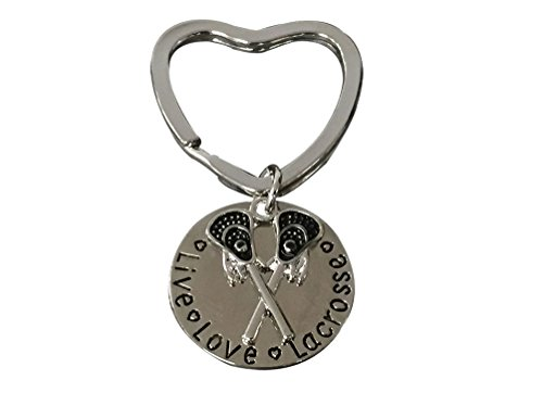 Infinity Collection Lacrosse Keychain- Lacrosse Stick Keychain- Live Love Lacrosse Jewelry for Lacrosse Players – DiZiSports Store