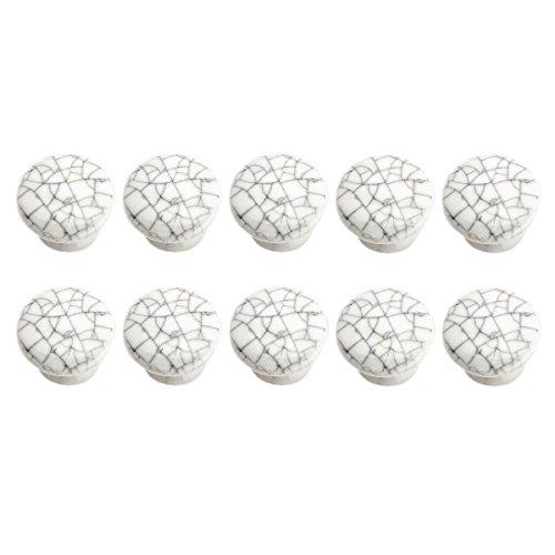 Crazed Gray-White Porcelain Knobs 1