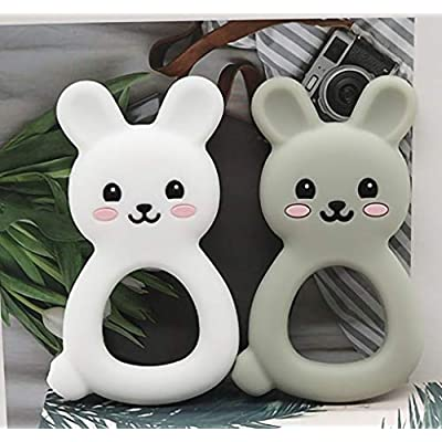MAD | Easter Bunny Baby Teething Toys | Self-Soothing Pain Relief Bunny Teether for Babies, Infants, Toddlers, Boys and Girls | Natural Organic BPA Free | 0-36 Months |… (White): Toys & Games