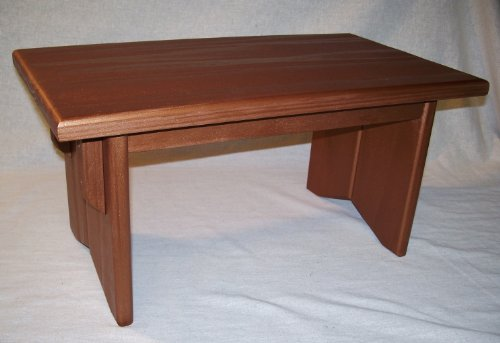 Solid-Pine-Small-Personal-Meditation-Prayer-Altar-w-Deluxe-Metallic-BRONZE-Finish-By-EarthBench-Meditation-Bench-Co