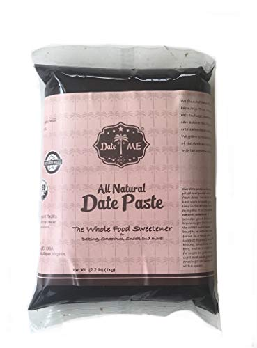 ECONOMY PACK- 100% All Natural Date Paste / spread (2.2lbs - NO BOX) The Whole food Sweetener for baking, snacks, Smoothies and more