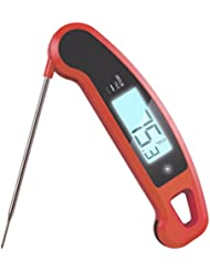 Lavatools Javelin PRO Duo Ambidextrous Backlit Instant Read Digital Meat Thermometer (Chipotle)